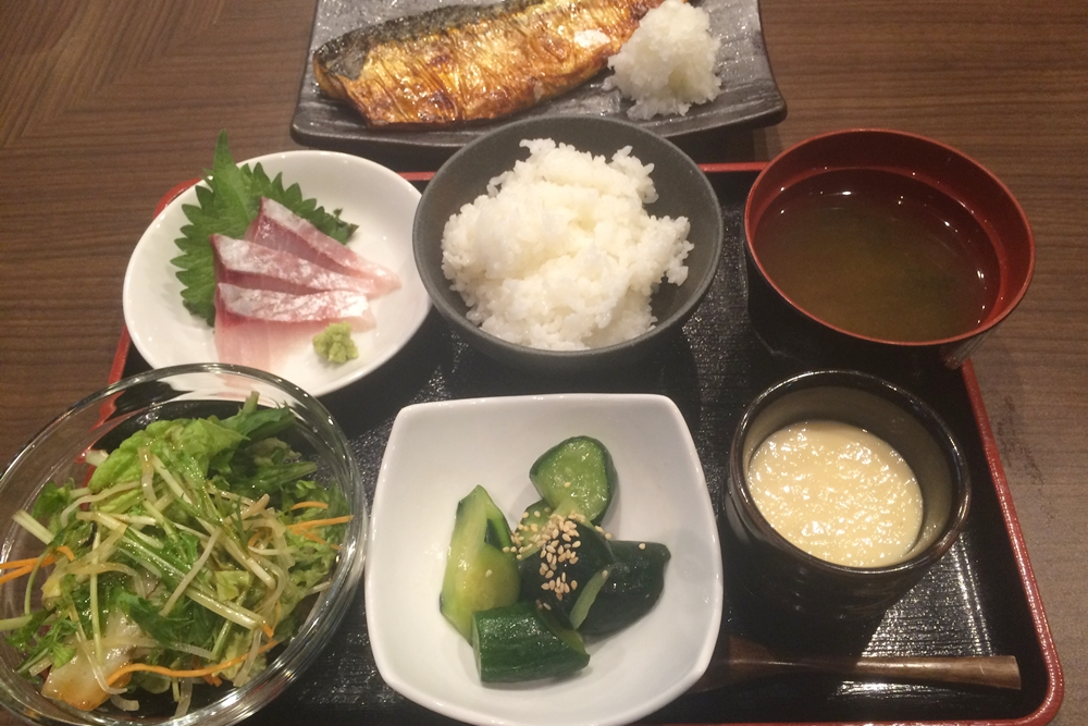 文次郎の焼き魚定食