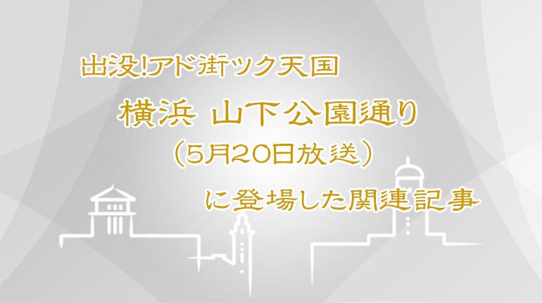 アド街ック天国「横浜 山下公園通り」関連記事