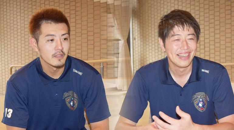 横浜ビー・コルセアーズの古田HCと山田選手